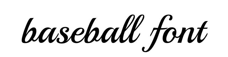 線上英文棒球字型產生器,快速將英文字轉換成英文棒球字型 ,系統支援WIN+MAC蘋果系統