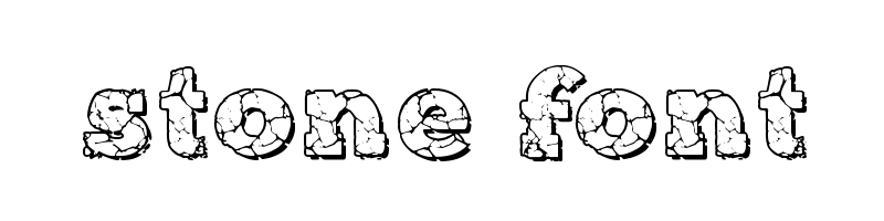 線上英文石頭字型生成器,快速將英文字轉換成英文石頭字型 ,系統支援WIN+MAC蘋果系統